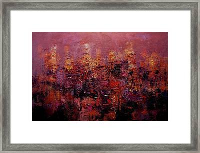 Twilight In L A Framed Print by R W Goetting