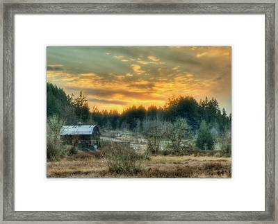 Twilight In The Valley Framed Print