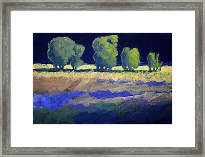 Twilight Landscape Framed Print