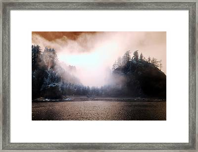 Framed Print featuring the photograph Twilight Moments by Rebecca Parker