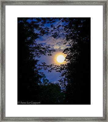 Twilight Moon Framed Print by Anna-Lee Cappaert