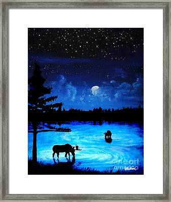 Twilight Moose Framed Print by Tylir Wisdom