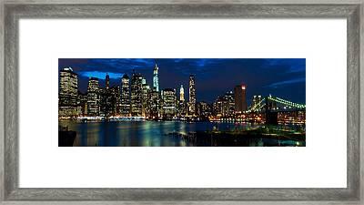 Twilight Nyc Panorama Framed Print