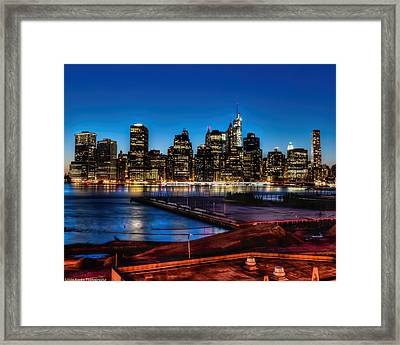 Framed Print featuring the photograph Twilight Of Honor by Linda Karlin