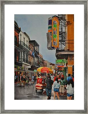 Twilight On Bourbon Framed Print
