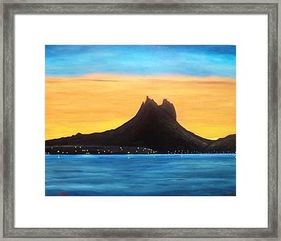Twilight On San Carlos Sonora Framed Print by Jorge Cristopulos