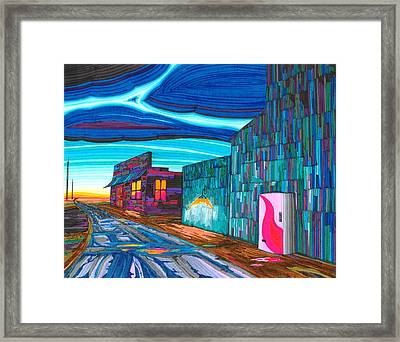 Twilight On The Central Plains Framed Print