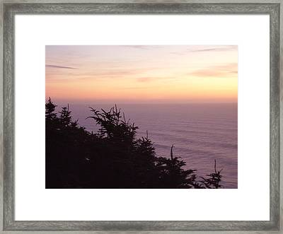 Twilight On The Coast Framed Print by Yvette Pichette