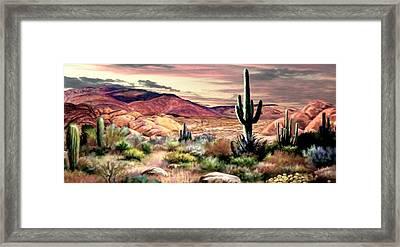 Twilight On The Desert  2 Framed Print
