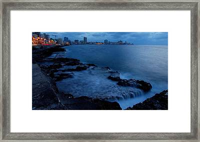 Twilight On The Malecon Framed Print