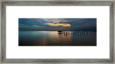 Twilight On The Neuse River Framed Print