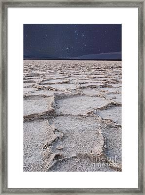 Twilight On The Salt Flats Framed Print