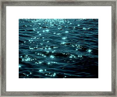 Twilight On The Waters Framed Print