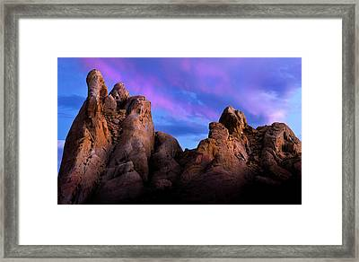 Twilight On White Dome Framed Print