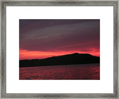 Twilight Over Cave Run Lake  Framed Print by Amy Manley