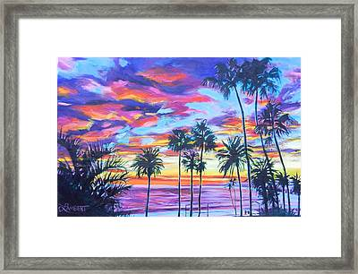 Twilight Palms Framed Print by Bonnie Lambert