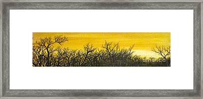 Twilight Partial Framed Print by Pheonix Creations