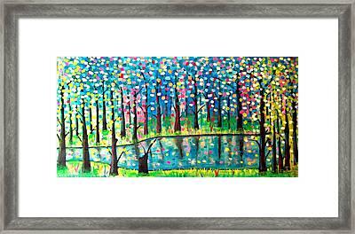 Twilight Pond Framed Print