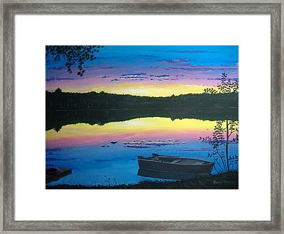 Twilight Quiet Time Framed Print by Norm Starks