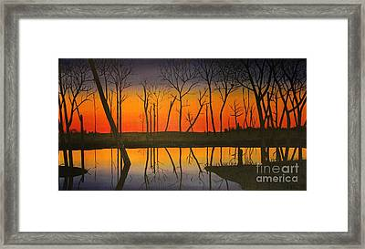 Twilight Reflections Framed Print by Lee Alexander