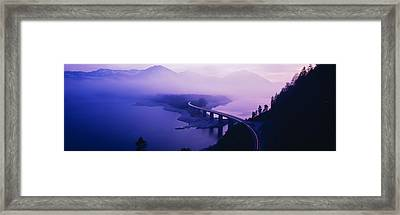 Twilight Road Germany Framed Print