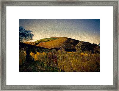 Twilight Rows Framed Print