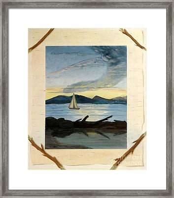 Twilight Sailing Framed Print by Stephen Schaps
