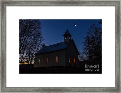 Twilight Service Framed Print by Anthony Heflin