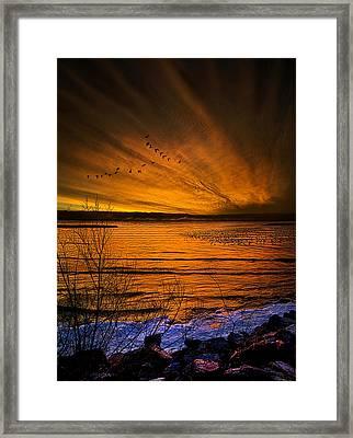 Twilight Sonnet Framed Print by Phil Koch