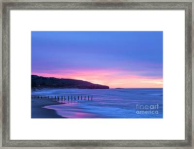 Twilight St Clair Beach Dunedin New Zealand Framed Print by Colin and Linda McKie