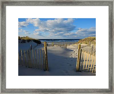 Framed Print featuring the photograph Golden Hour Beach by Dianne Cowen