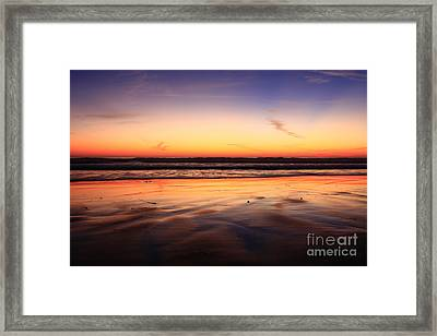 Cardiff By The Sea Glow Framed Print