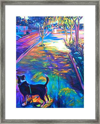 Scout At Twilight Framed Print by Bonnie Lambert