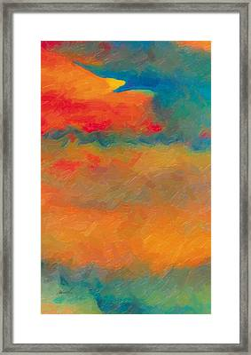Framed Print featuring the painting Twilight Whispers by The Art of Marsha Charlebois