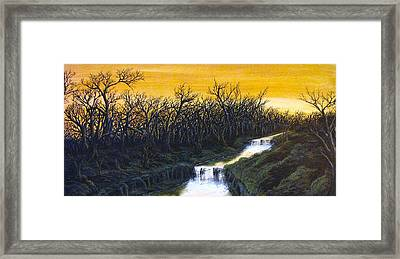 Twilight's Last Breath Framed Print by Pheonix Creations