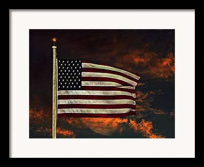 The Star-spangled Banner Mixed Media Framed Prints