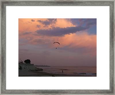 Twilite Sail Framed Print by Tg Devore