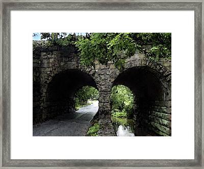 Twin Arch Bridge Framed Print