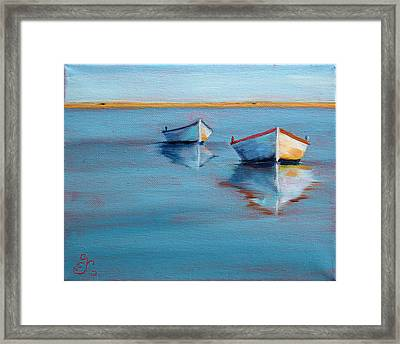 Twin Boats II Framed Print