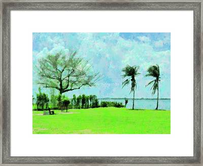 Twin Breeze Framed Print