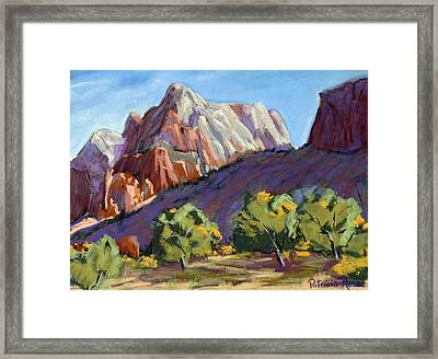 Twin Brothers Vista Framed Print by Patricia Rose Ford