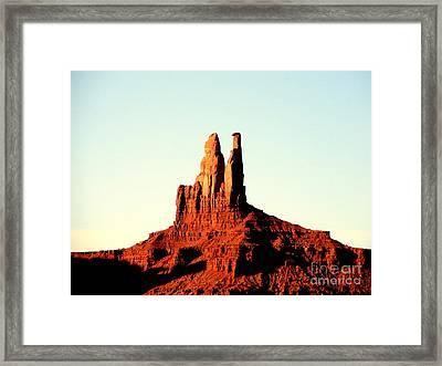 Twin Desert Peaks Usa Framed Print by John Potts