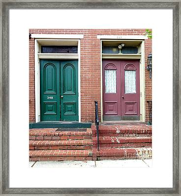 Twin Doors Framed Print