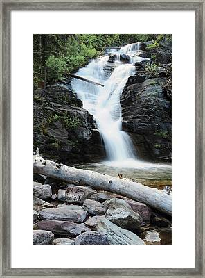 Twin Falls Glacier National Park Framed Print by Michel Hersen