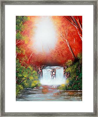 Twin Falls  Framed Print by Greg Moores