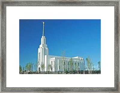 Twin Falls Idaho Lds Temple Framed Print by Nick  Boren