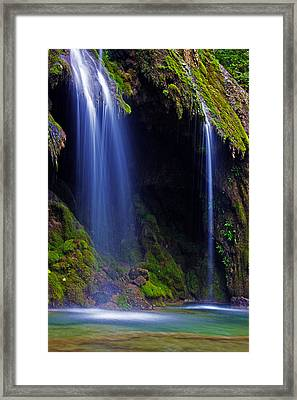 Twin Falls Framed Print by James Roemmling