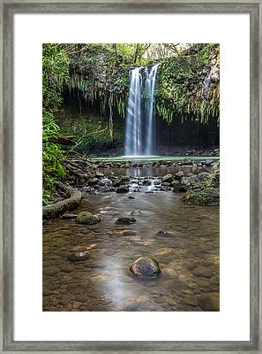 Twin Falls Framed Print by Pierre Leclerc Photography