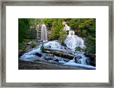 Twin Falls South Carolina Framed Print by Frozen in Time Fine Art Photography