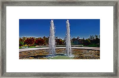Twin Fountains Framed Print by Tom Gari Gallery-Three-Photography